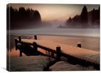 A Misty Glow., Canvas Print