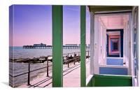 Pier view, Canvas Print