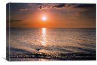 Sunset Fisherman, Canvas Print