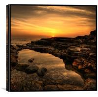 Rockpool Sunrise, Canvas Print
