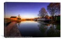 Tiverton Canal Basin, Canvas Print