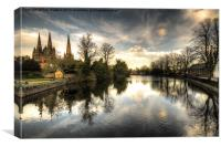 Reflections over Lichfield, Canvas Print