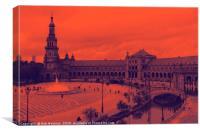 Plaza de Espana Roja , Canvas Print