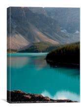 canadian lake moraine, Canvas Print