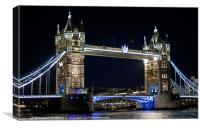 Tower Bridge at night, Canvas Print