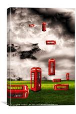Phone Box Heaven, Canvas Print