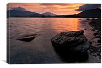 Sunrise at Derwent Water, Cumbria, Canvas Print