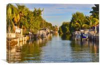 Key Largo Canal 2, Canvas Print