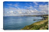 Port Isaac to Tintagel View, Canvas Print