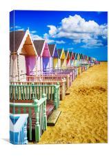 Pastel Beach Huts 2, Canvas Print