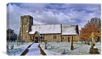 St Margarets in Wintertime, Canvas Print