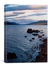 Evening On Loch Rannoch, Canvas Print