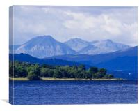 Loch Rannoch and Distant Mountains, Canvas Print