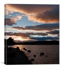 As The Sun Sets Over Loch Rannoch, Canvas Print