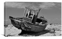 Shingle Sailor Boat Dungeness, Canvas Print