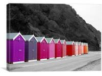 Colourful Beach Huts, Canvas Print