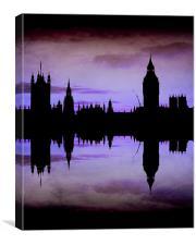 Purple London, Canvas Print