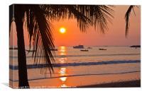 Pacific Sunset, Canvas Print
