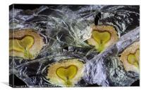 heart shaped seeds, Canvas Print