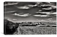 Wispy clouds over caseberry downs, Canvas Print