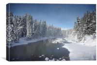 Icy River in Banff, Canvas Print
