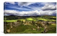 Mam Tor, Peveril Castle, Lose Hill And Castleton, Canvas Print