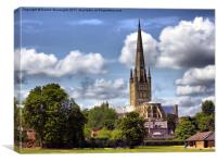 Norwich Cathedral., Canvas Print