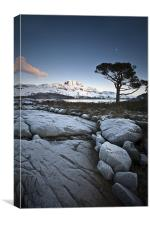 Frosted Slioch, Canvas Print