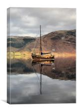 Sailing Boat On Loch Leven, Canvas Print