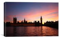 London Skyline Sunset, Canvas Print