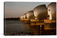 Thames Barrier, Canvas Print