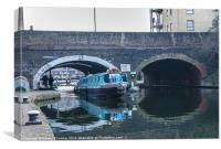 Barge on Regent's Canal, Canvas Print
