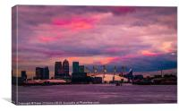 Docklands and O2 Arena, Canvas Print