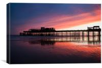 Hastings Pier After The Fire, Canvas Print