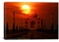 Taj Mahal Sunset, Canvas Print