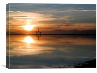 Rig at Sunset, Canvas Print