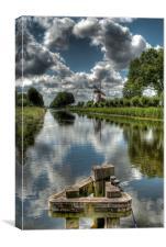 Damme Windmill - Belgium, Canvas Print