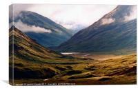 Golden Light in Glencoe, Canvas Print