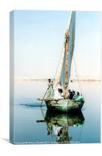 Felucca Ferry on the Nile, Egypt, Canvas Print
