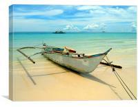 Boracay Boats, Canvas Print