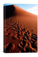Footsteps in the Sand, Dune 45, Sossusvlei, Namibi, Canvas Print