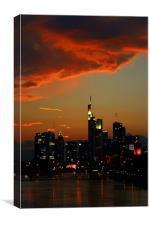 Burning Sky over Skyline, Canvas Print