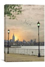 GOOD MORNING NEW YORK, Canvas Print