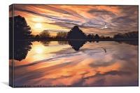 SUNSET IN AUTUMN, Canvas Print