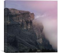 Plaine Joux Mountain Range, Canvas Print