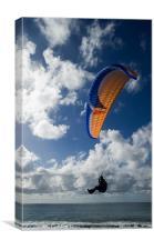 Paraglider at Puerto Naos, La Palma, Canvas Print