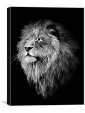 Aslan in Fractal, Canvas Print