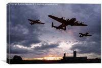 Memorial Sunset, Canvas Print