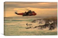 Royal Navy Rescue , Canvas Print