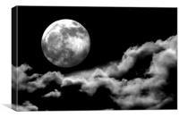 Full Moonshine, Canvas Print
